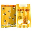 2 x Burt's Bees Bee Keeper CLASSIC Lip Balm Tins of  4 beeswax lip balm = 8 tubes!  Gift