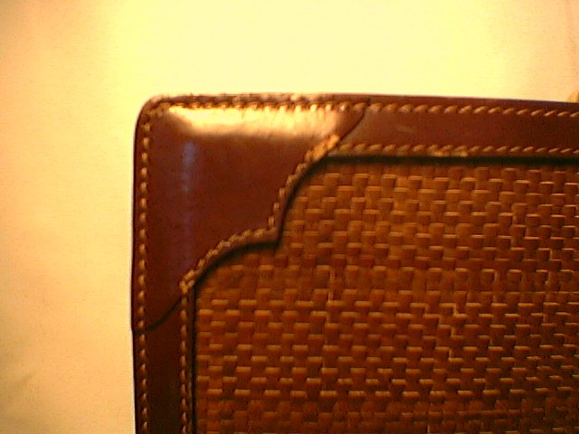 Michael Scott woven Leather Briefcase  made in Italy  Must-See!  note