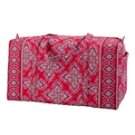 Vera Bradley Small Duffel Frankly Scarlet  Retired NWT   gym carryon bag overnight weekend