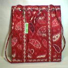 Vera Bradley Backsack backpack tote Mesa Red knitting laundry drawstring quick draw  NWT Retired HTF