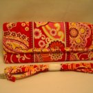 Vera Bradley Sleek Wallet Rasberry Fizz travel organizer trifold convertible crossbody  NWT Retired