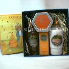 L occitane Orange Giftbox Bath Gel Body Mist EDC Pumpkin Chestnut candle -  Disc  l'oranger