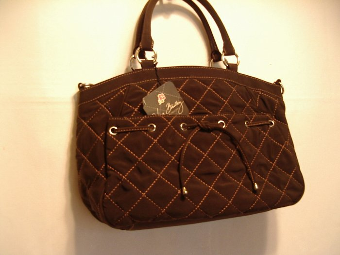 Vera Bradley Tie Front Satchel handbag purse Espresso Microfiber   NWT Retired