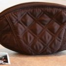 Vera Bradley Crescent Cosmetic Case Espresso microfiber   NWT  makeup coin  Retired