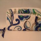 Vera Bradley Zip Around Wallet wristlet Mediterranean White  passport organizer clutch  NWT Retired
