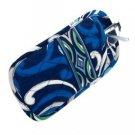 Vera Bradley Double Eye Mediterranean Blue FS • soft eyeglass case  NWT Retired HTF