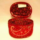 Vera Bradley Jewelry Travel Case Mesa Red retired Mint  travel makeup tech  organizer FS