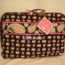 Vera Bradley Little Travel Case  Pink Elephants game craft case tote  retired VHTF NWT
