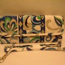 Vera Bradley Sleek Wallet Mediterranean White convertible crossbody organizer bag  NWT Retired