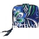 Vera Bradley Mini Zip Wallet Mediterranean Blue NWT Retired •  card coin ID case