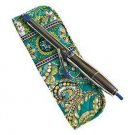 Vera Bradley Curling Iron Cover Peacock • travel flatiron curling brush NWT Retired HTF