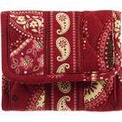 Vera Bradley Pocket Wallet  Mesa Red NWT Retired HTF  coin ID case, tri-fold