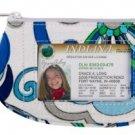 Vera Bradley Clip Zip ID Case Mediterranean White card  coin gym wallet   NWT