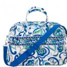 Vera Bradley Weekender Mediterranean White satchel tote carryon overnight - NWT Retired