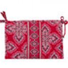 Vera Bradley Large Bow Cosmetic Frankly Scarlet  make-up bag toiletry travel case NWT  Retired VHTF