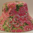 Vera Bradley Sun Hat Petal Pink Crusher Reversible Bucket Hat   Retired FS