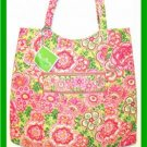 Vera Bradley Curvy Tote Petal Pink  purse shopper knitting magazine lingerie bag   NWT Retired VHTF