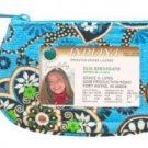 Vera Bradley Clip Zip ID Case Bali Blue  coin card gym wallet  NWT Retired