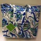 Vera Bradley Villager XL tote Mediterranean White  purse handbag   NWT Retired