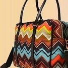 Missoni for Target Travel Tote colore chevron zig-zag NWT    weekend carryon luggage