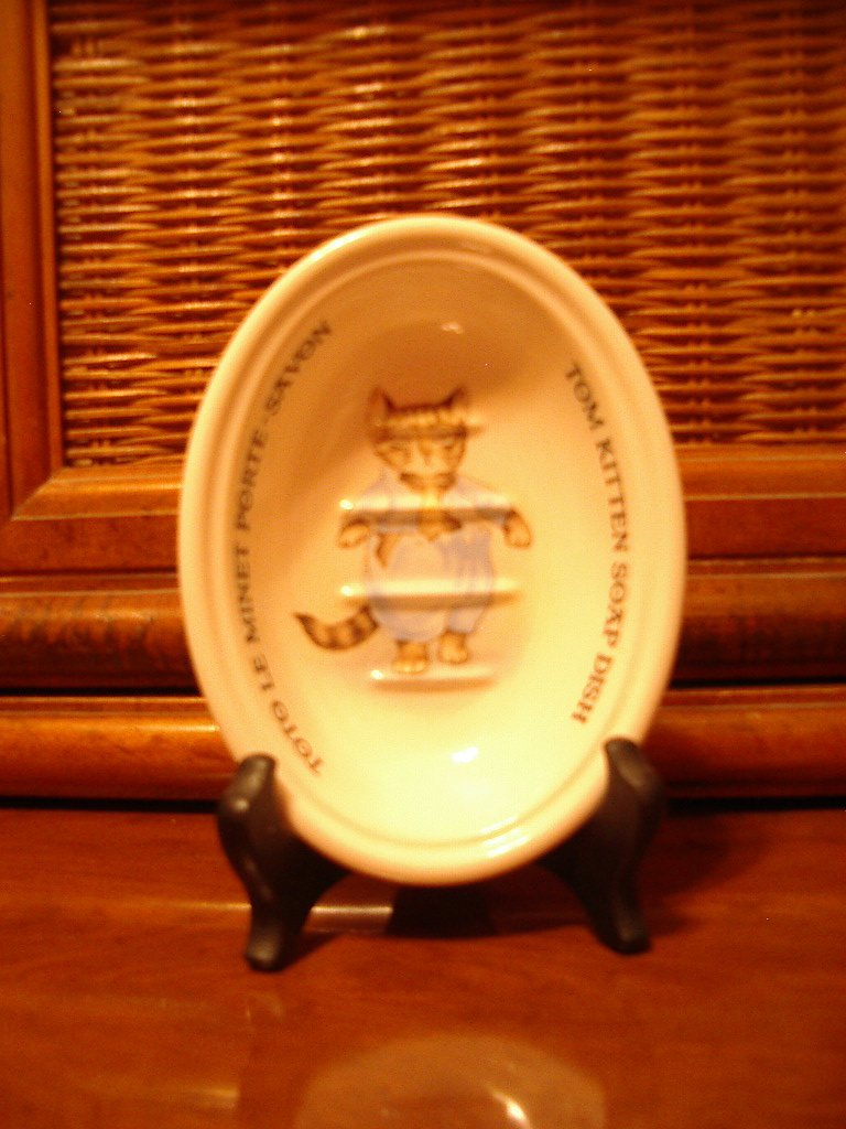 Crabtree Evelyn Tom Kitten Soap Dish Masons Beatrix Potter