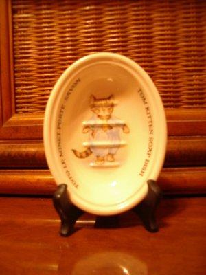Crabtree Evelyn Tom Kitten Soap Dish Masons Beatrix Potter