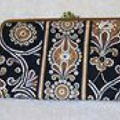 Vera Bradley Clutch Wallet Caffe Latte  NWT retired kisslock