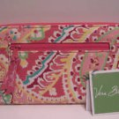 Vera Bradley Travel Organizer zip around passport wallet in Capri Melon   Retired NWT