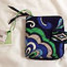 Vera Bradley Mini Zip Wallet Mediterranean Blue - NWT Retired - card coin ID case