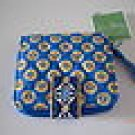 Vera Bradley Mini Zip Wallet Riviera Blue NWT Retired • coin ID zip-around