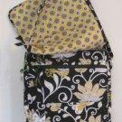 Vera Bradley Mailbag crossbody messenger bag hipster laptop Yellow Bird   NWT Retired  VHTF