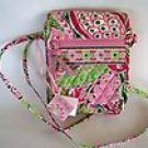 Vera Bradley Mini Hipster crossbody organizer swing wallet  Pinwheel Pink • NWT Retired purse