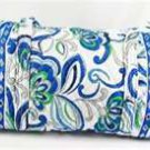 Vera Bradley Small Duffel Mediterranean White   gym bag duffle overnight weekend  NWT