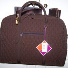 Vera Bradley Commuter Bag Microfiber Espresso brown laptop case metro tote  Retired NWT