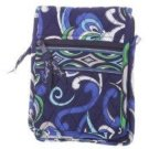 Vera Bradley Mini Hipster crossbody organizer travel wallet Mediterranean Blue • Retired NWT  VHTF