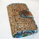 Vera Bradley Tiki Clutch Bali Blue  evening bag cruise purse wicker baguette  NWT Retired FS