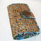 Vera Bradley Tiki Clutch  cruise purse evening bag Bali Blue wallet cane  rattan NWT Retired