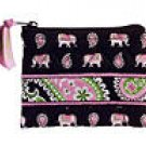 Vera Bradley Coin Purse Pink Elephants -  id credit card case  NWT Retired