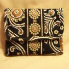 Vera Bradley Pocket Wallet  foldover coin ID case Caffe Latte  NWT Retired