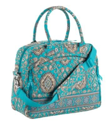 Vera Bradley Metropolitan Totally Turq weekend overnight laptop carry-on commuter trolley sleeve �