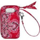 Vera Bradley  All In One Wristlet  Frankly Scarlet - tech cell case zip wallet  Retired HTF