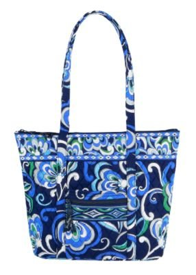 bf291cbf5a Vera Bradley Villager XL tote Mediterranean Blue NWT Retired diaper weekend  overnight