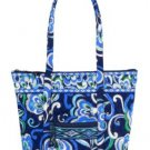 Vera Bradley Villager XL tote Mediterranean Blue   NWT Retired diaper weekend overnight