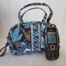 Vera Bradley Katie cosmetic bag Java Blue  travel makeup case  girls purse - Retired HTF NWT