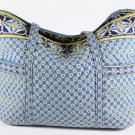 Vera Bradley Super Tote XL beachbag carryall satchel weekender Riviera Blue  • EUC Rare Retired