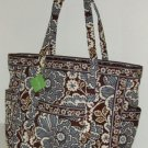 Vera Bradley Get Carried Away XXL Tote Slate Blooms  carryon weekend overnight Retired NWT HTF