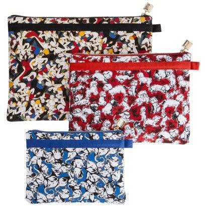Carolina Herrera 3pc Travel Bag � cosmetic tech cases Neiman-Marcus + Target LE detachable FS