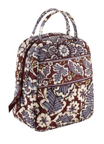 Vera Bradley Let's Do Lunch in Slate Blooms insulated tote travel cosmetic  NWT Retired