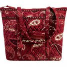Vera Bradley Villager XL tote Mesa Red   handbag purse overnight Retired NWT