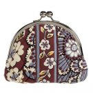 Vera Bradley Double Kiss Coin Purse Slate Blooms Retired NWT • clutch girls small purse